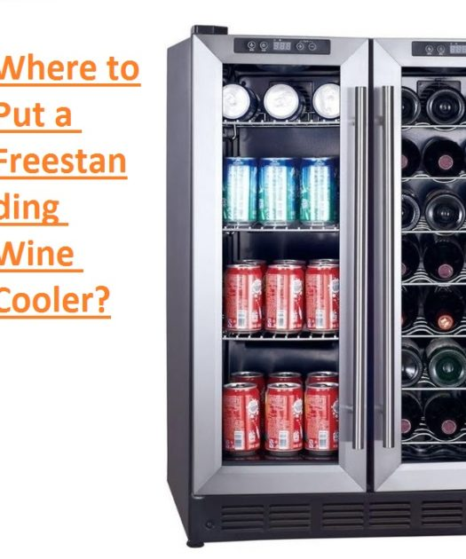 where to put a freestanding wine cooler